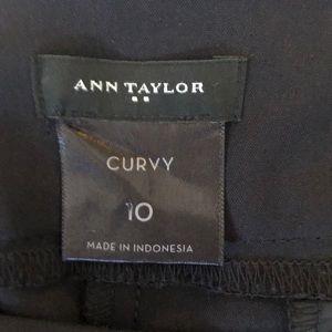 Ann Taylor Black Pants Curvy 10